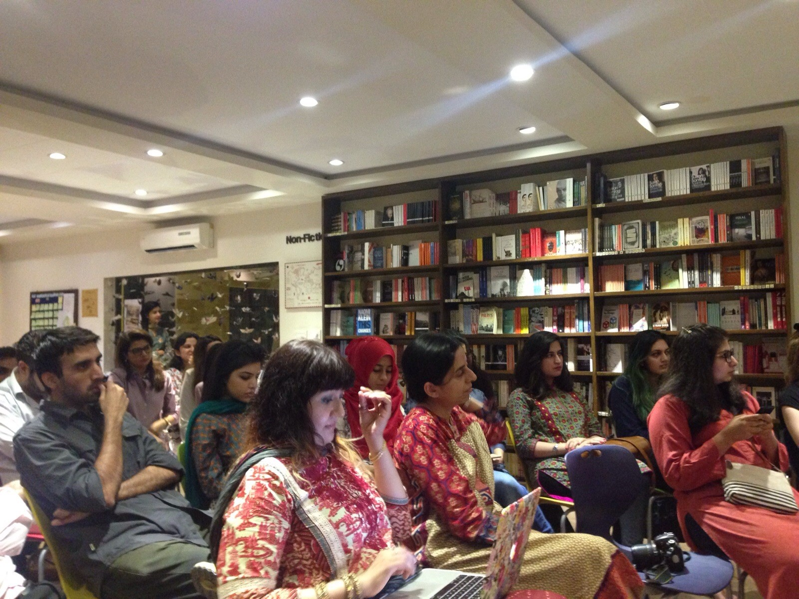 The audience at the event