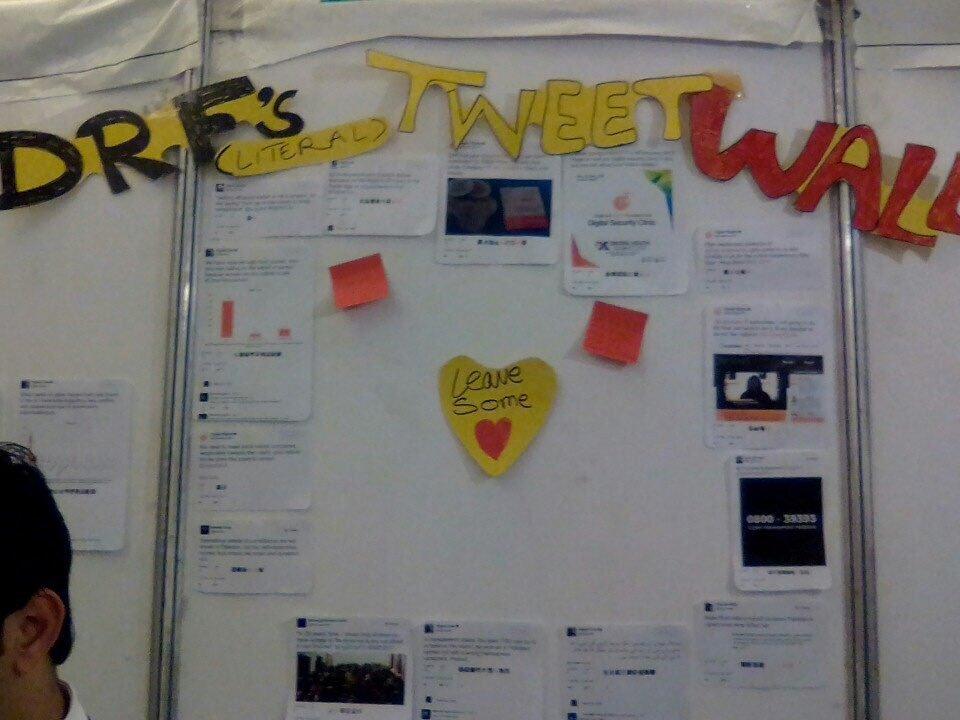 DRF Tweet Wall at Digital Youth Summit